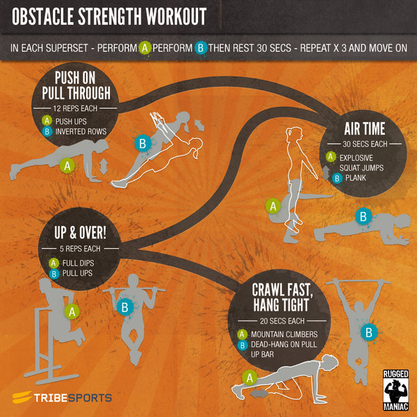 Obstacle Race Workout Designed To Build Your Strength In