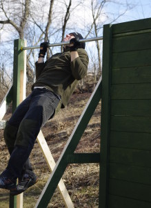 Pull-Up Bar on Obstacle Wall