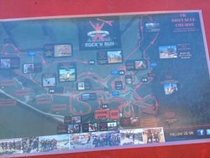 Gladiator Rock 'n Run Map