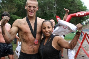 Me and Adam. My first Spartan Race - Toronto Spartan Sprint 2012