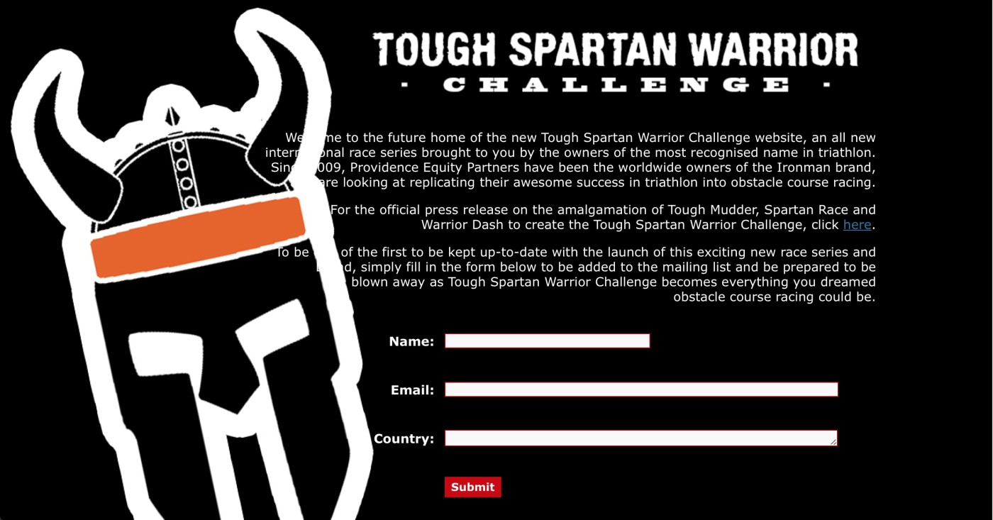 Tough Spartan Warior Challenge