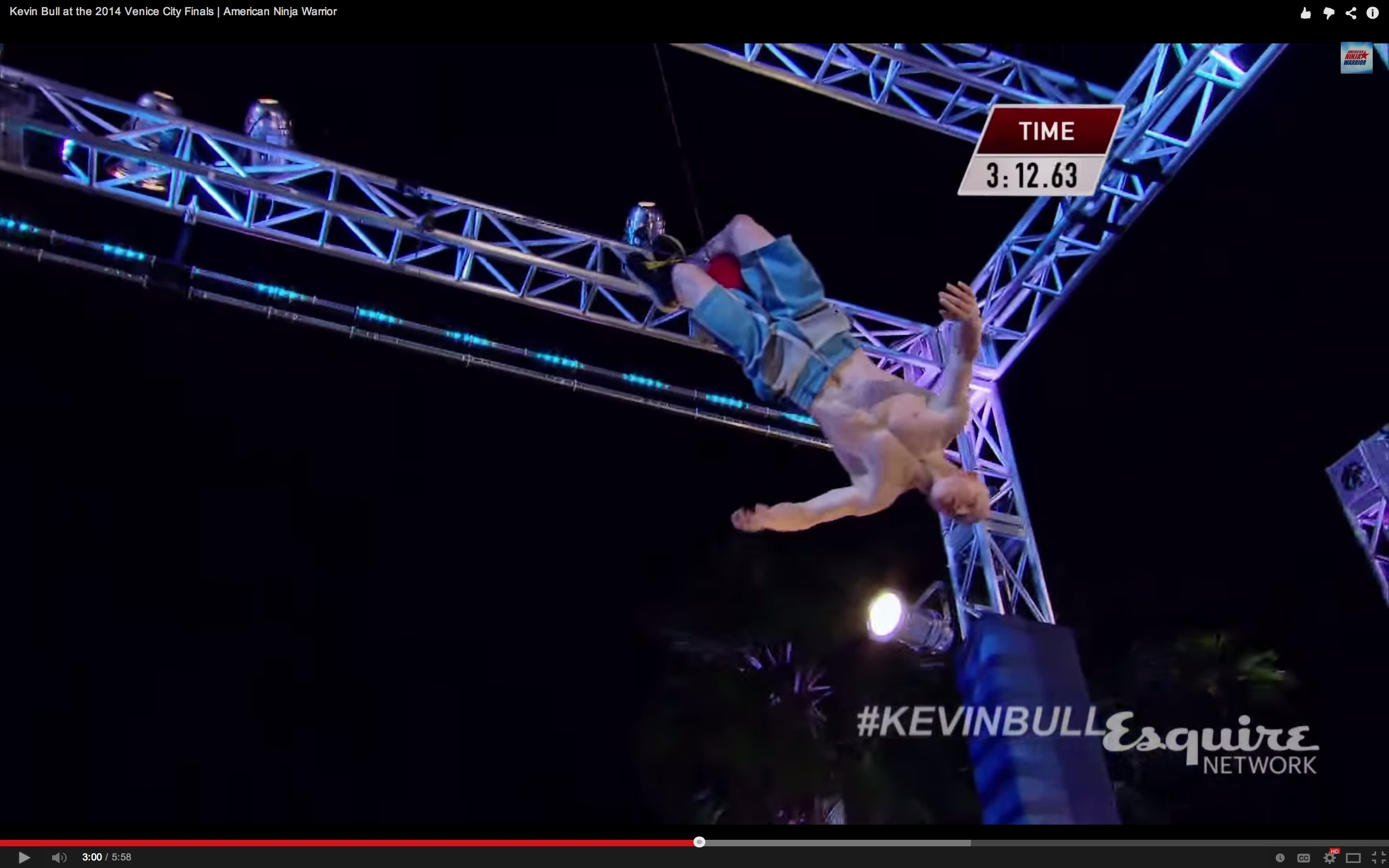 Kevin Bull At The 2014 Venice City Finals American Ninja