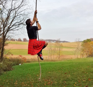 This kilt handles obstacles with ease